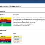 MBA Excel Sample Model