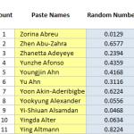 Excel Random Student Name Generator