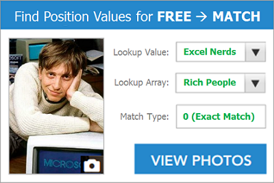 Bill Gates MATCH Excel