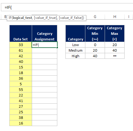 how to write a logical formula in excel