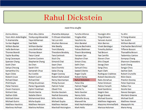 Random Name Generator : Excel random student name generator